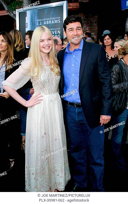 Elle Fanning and Kyle Chandler at the Premiere of Paramount Pictures' Super 8. Arrivals held at Regency Village Theater in Westwood, CA, June 8, 2011
