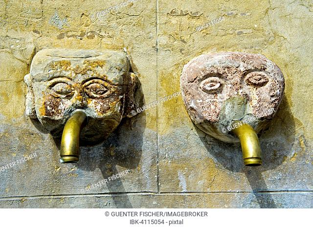 Two gargoyles by the village well, Grazalema, Andalucía, Spain