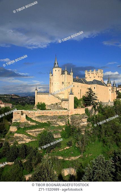 Spain, Castilla Leon, Segovia, Alcazar