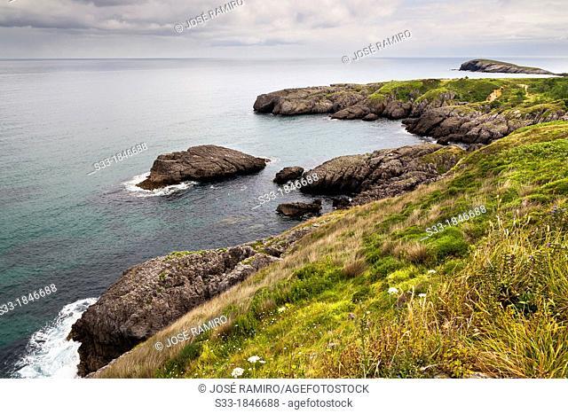 Punta Lanzadoiro in Sonabia  Santander  Cantabria  Spain