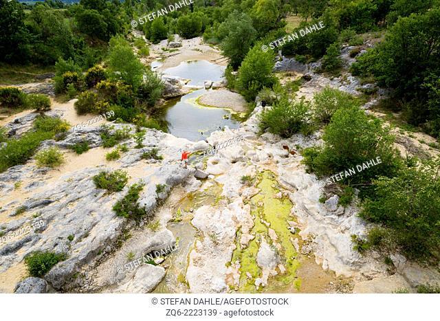 Landscape at the Pont Julien near Bonnieux, Provence, France