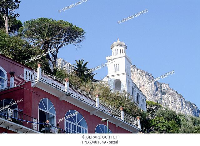 Italy, Amalfi Coast, Capri, Marina Grande, San Stefano Church