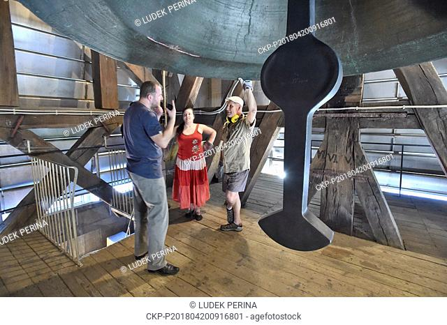 The second biggest bell in Czech Republic, Saint Wenceslas Bell in Saint Wenceslas Cathedral, rings, as bells across the country are to be rung at the appeal of...