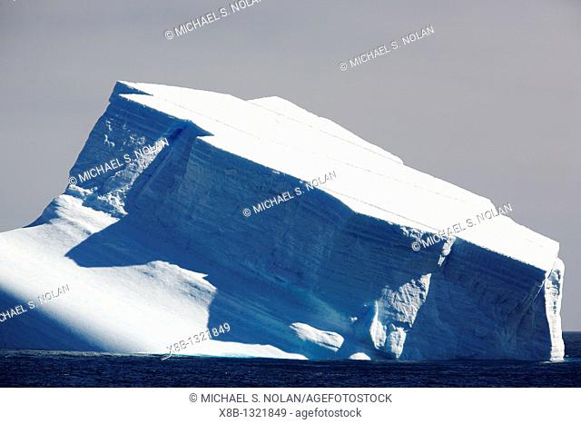 A massive tabular icebergs in the Weddell Sea off the east coast of the Antarctic Peninsula