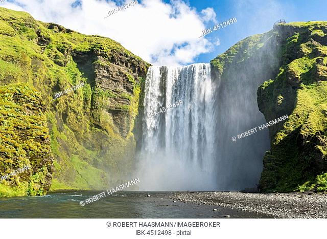 Waterfall Skógafoss, Iceland