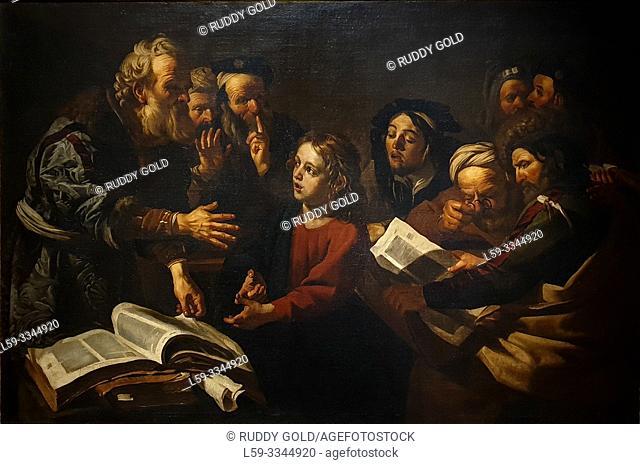 'Christ among the Doctors', 1618, Dirck van Baburen (1595-1624)