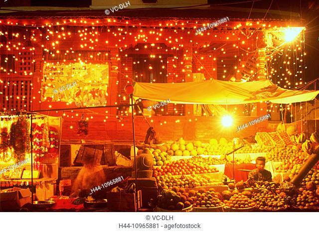 Market, Tihar, Katmandu, Nepal