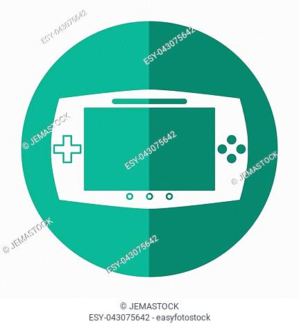 game console portable play device shadow vector illustration eps 10