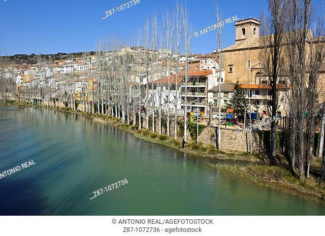 Tagus river, Trillo, La Alcarria, Guadalajara province, Castilla-La Mancha, Spain
