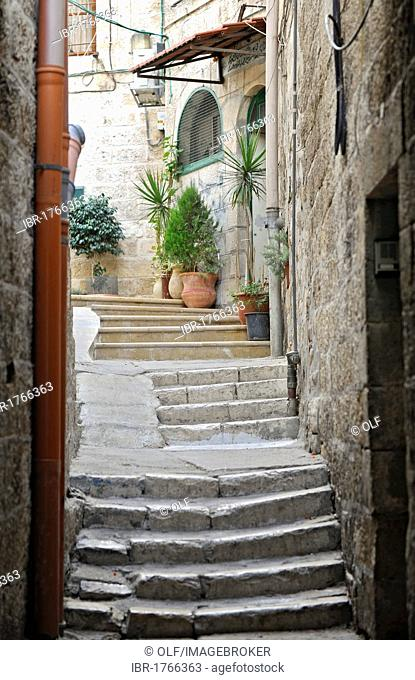 Street in the Muslim Quarter, old town, Jerusalem, Israel, Middle East, Southwest Asia