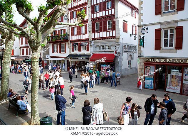 Leon Gambetta street   Saint-Jean-de-Luz  Pyrénées-Atlantiques, France