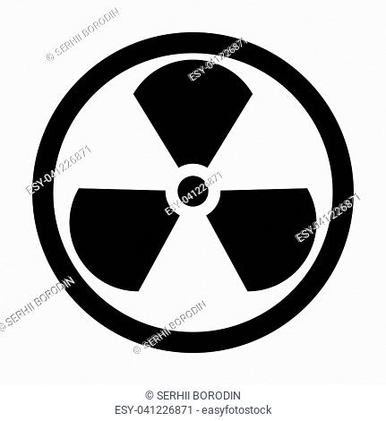 Sign radioactive it is the black color icon