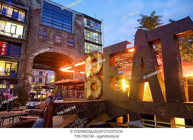 Kunsthaus Tacheles art gallery on Oranienburger Strasse in the evening, Berlin. Germany