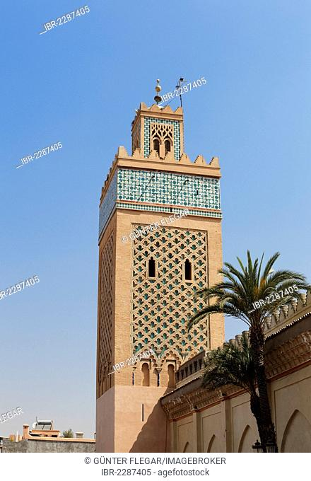 Minaret of the Koutoubia Mosque in Marrakech, Marrakech-Tensift-El Haouz, Morocco, North Africa, Africa