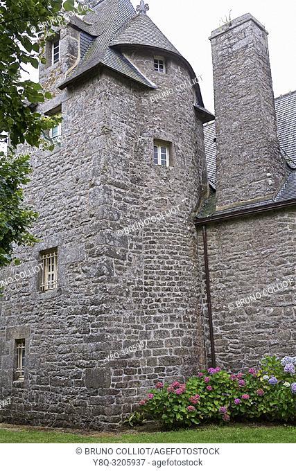 Kérazan mansion, Pont-l'Abbé, Finistère, Brittany, France