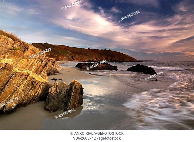 Spain. Galicia. Pontevedra. Sanxenxo. Bascuas's beach