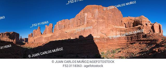 Park Avenue, Arches National Park, Colorado Plateau, Utah, Grand County, Usa, America