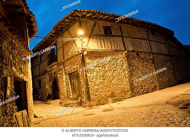 Typical Architecture, Calatañazor, Medieval Town, Soria, Castilla y León, Spain, Europe