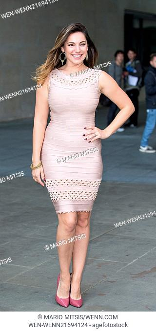 Kelly Brook outside the BBC Radio 1 studios Featuring: Kelly Brook Where: London, United Kingdom When: 09 Sep 2014 Credit: Mario Mitsis/WENN.com