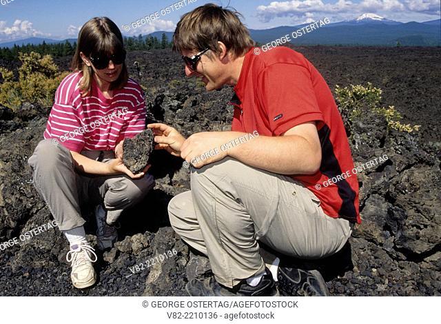 Lava flow at Lava Butte, Newberry National Volcanic Monument, Oregon