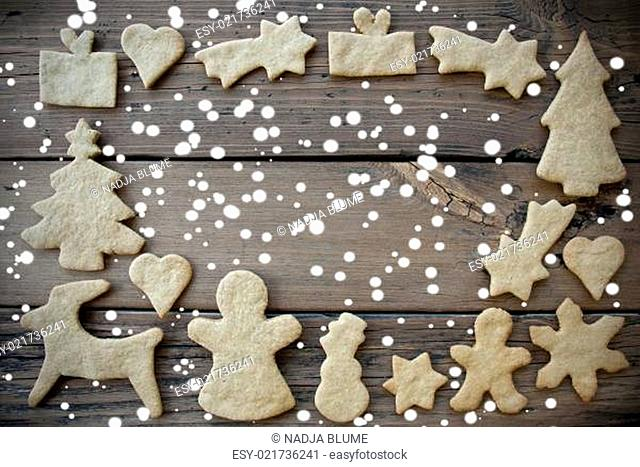 Ginger Bread Frame in the Snow
