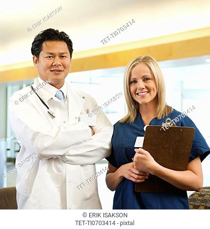 Portrait of nurse and doctor