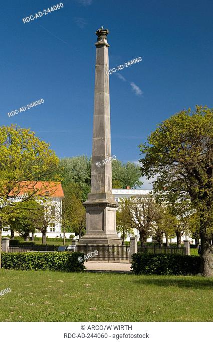 Obelisc Circus Putbus Isle of Rugen Mecklenburg-Western Pomerania Germany Rügen