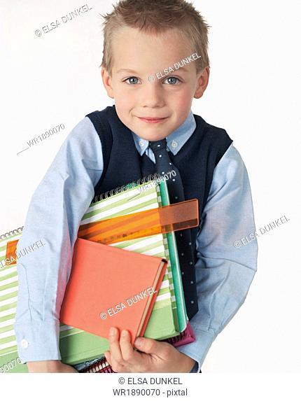 School Boy Wearing School Uniform, Munich, Bavaria, Germany, Europe