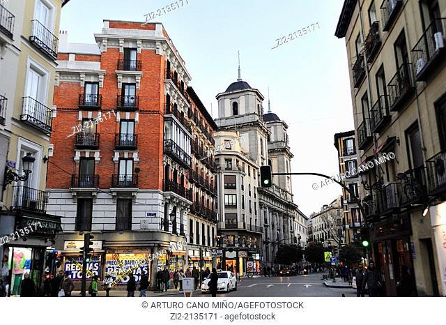 Colegiata of San Isidro, Toledo street, in the old quarter, Madrid, Spain