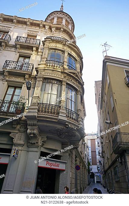 Architect Francesc Borras Soler's Casa Boule, also known as Cal Guardiola-Boule. Reus, Tarragona, Catalonia, Spain, Europe