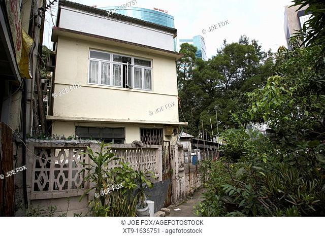 small houses in pai tau village sha tin hong kong hksar china asia