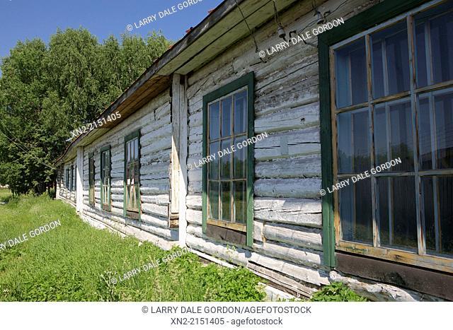Prisoner barracks at the Perm-36 Gulag prison camp, now a museum in Kuchino, Chusovoy, Perm Krai, Russia