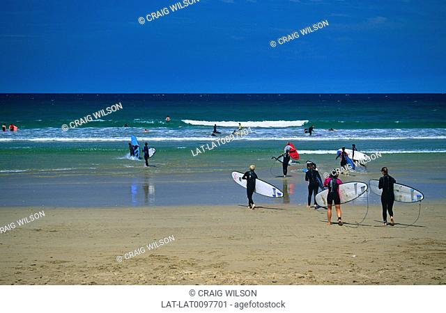 Bells Beach is a famous surfing beach located in the Great Ocean Road