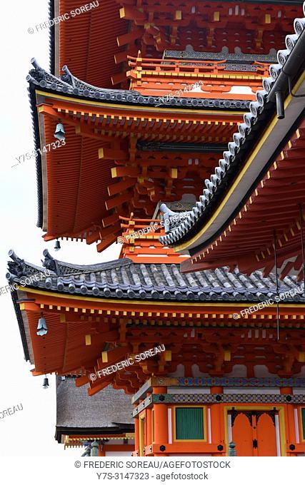 Jishu-jinja shrine adjacent to Kiyomizu-dera temple in Kyoto, Japan, Asia