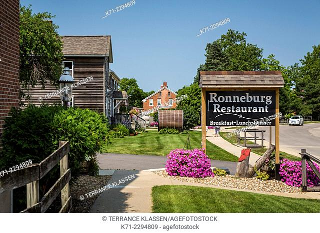 The Ronneburg Restaurant in the Amana Colonies, Iowa, USA