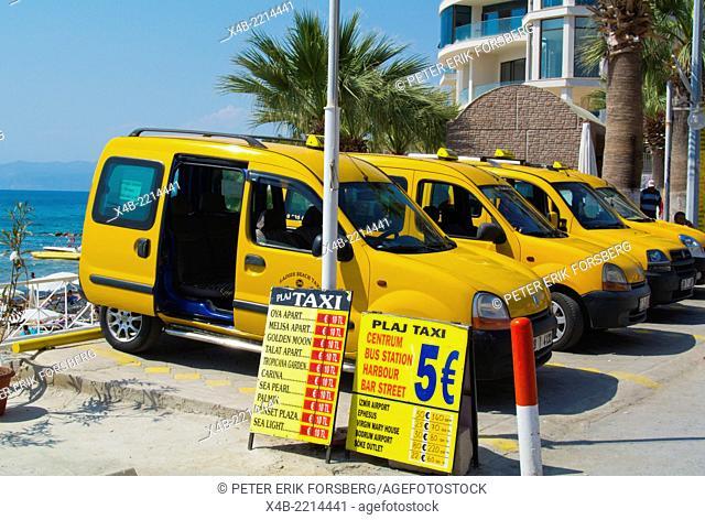 Taxis, Ladies Beach, Kusadasi, Turkey, Asia Minor