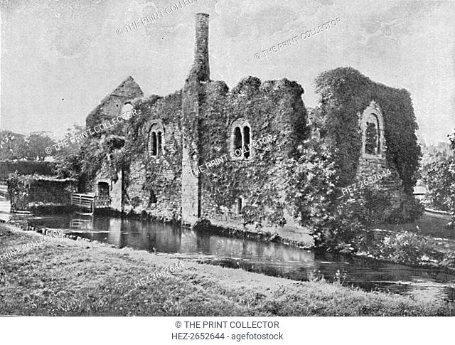 'The Norman House, Christchurch', 1902. 12th century riverside chamber block or Norman House, a very early example of domestic architecture