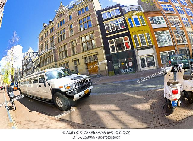 Street Scene, Traditional Architecture, Amsterdam, Holland, Netherlands, Europe