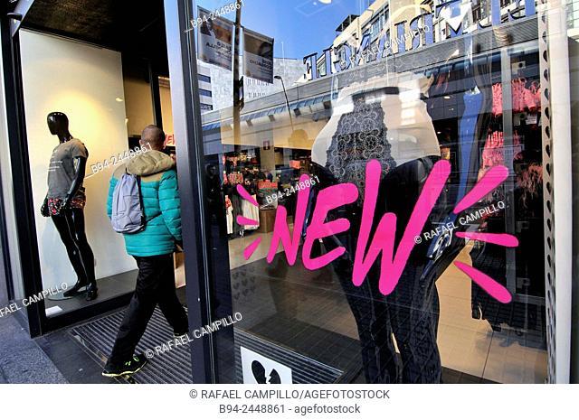 Clothing store. Barcelona. Catalonia. Spain
