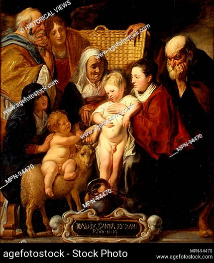 The Holy Family with Saint Anne and the Young Baptist and His Parents. Artist: Jacob Jordaens (Flemish, Antwerp 1593-1678 Antwerp); Date: early 1620s and 1650s;...