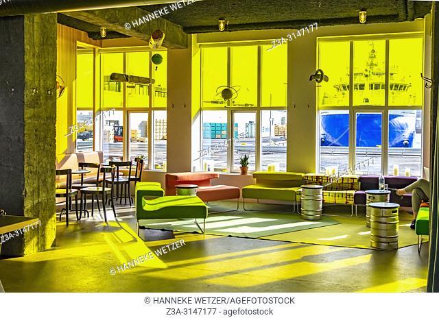 Interior of the The Marshall House Restaurant in Reykjavik, Iceland