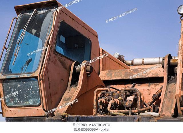 Rusty industrial truck