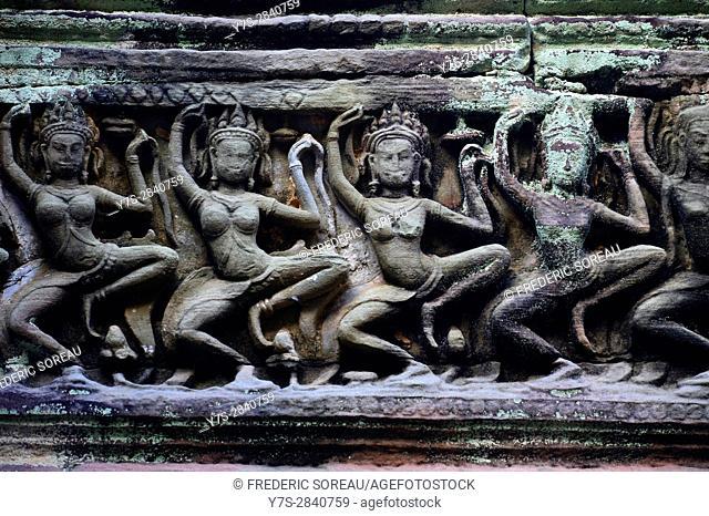 Preah Khan temple,Angkor,Siem Reap,Cambodia,Indochina,Southeast Asia,Asia