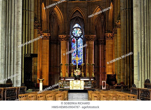 France, Marne, Reims, Notre Dame Cathedral listed as World Heritage by UNESCO, altar in the choir