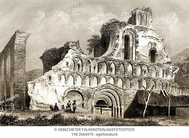 St. Botolph's Priory, a Medieval Augustinian religious house in Colchester, Essex, England, 18th century