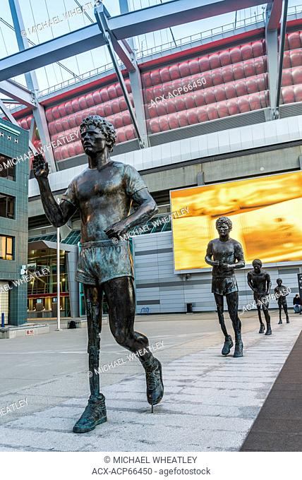 Terry Fox Memorial statues, BC Place, Vancouver, British Columbia, Canada