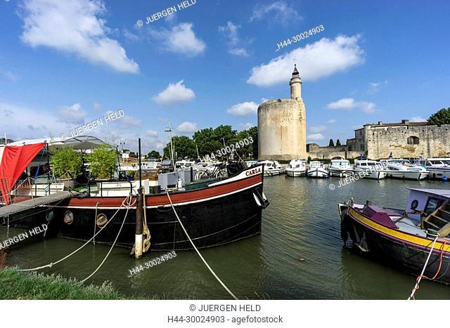 France, Provence, Avignon, Aigues-Mortes, Camargue, Marina, Languedoc-Roussillon