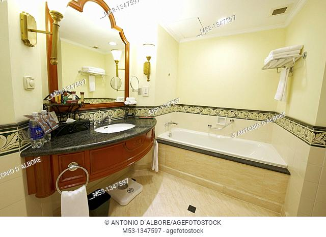 Bathroom in a sheraton five star hotel