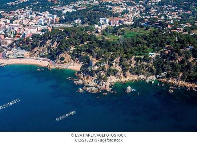 Plaja Castle in Lloret de Mar. Costa Brava