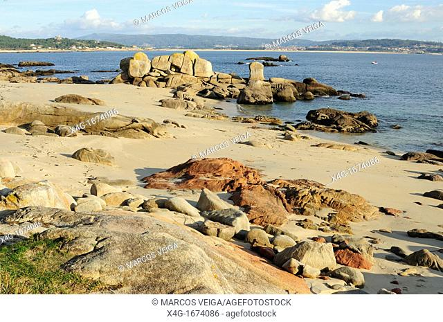 Coastal landscape in San Vicente do Mar, O Grove, Galicia, Spain
